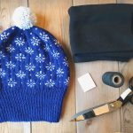 Tutorial: how to line a knitted hat with fleece