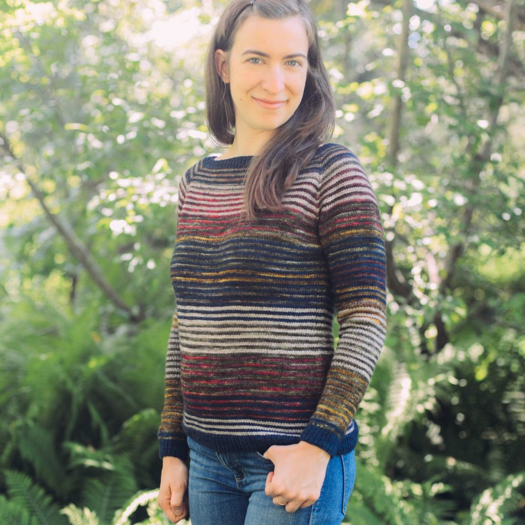 Lineage Sweater - Colorful stash buster knitting pattern for fall