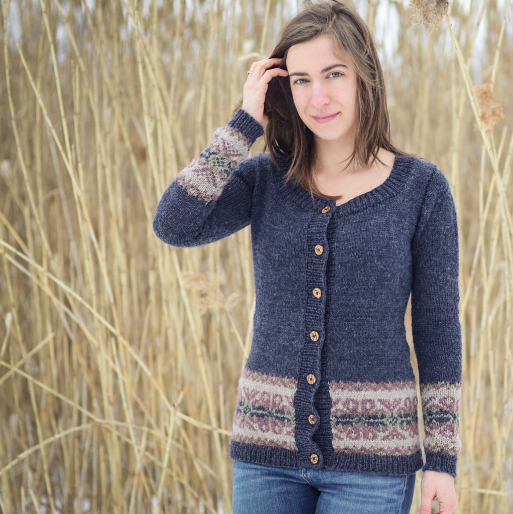 Flower Island Cardigan Fair Isle Knitting Pattern